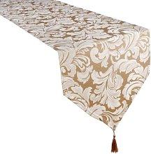 4YH Textiles Cadiz Damask Effect Champagne