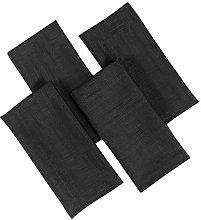 4YH Textiles Soft Feel Easycare Slubbed Black Pack