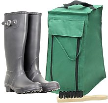 4YourHome Wellinton Boot Storage Bag and Brush,
