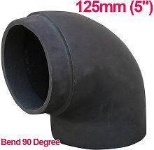 5' 90 Degree Bend Cast Iron Flue Pipe Chimney