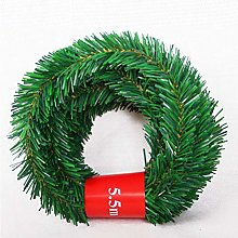 5.5M Christmas Garland Decorations, Wisvis Outdoor