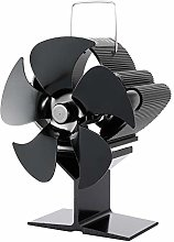 5-Blades Fireplace Stove Fan,Heat Powered Stove