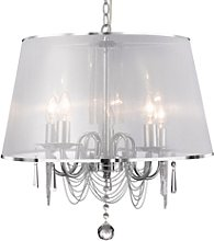 5 Candle Light Chandelier with Shade & Crystal