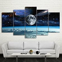 5 Canvas Wall Art Outer Space Galaxies & Universe