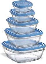 5 Container Food Storage Set Duralex