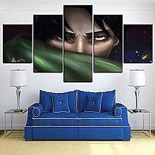 5 decorative paintings Anime Movie Poster Canvas