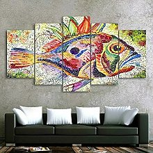 5 decorative paintings Fish Painting Poster Canvas