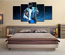 5 decorative paintings games Poster Canvas Print