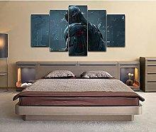 5 decorative paintings Movie Poster Canvas Print