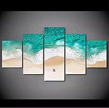 5 decorative paintings Natural Sea Wave