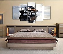 5 decorative paintings Truck Poster Canvas Print