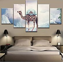 5 decorative paintings Unframed Canvas Painting