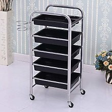 5 Drawer Salon Trolley Hairdresser Multifunctional