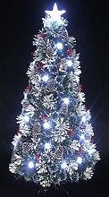5 Foot Snowy White Pine Pre-lit Flocked Christmas