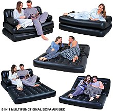 5 In 1 Inflatable Multi function Double Air Bed