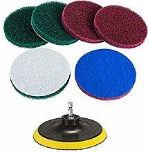 5 Inch Scrubber Scouring Pads, 6 Pcs Scrub Pads