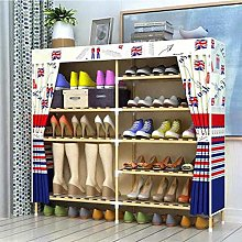 5-Layer Shoe Rack, Simple Solid Wood Cabinet, Shoe