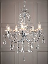 5 Light Chandelier with Chrome & Crystals - Tabitha