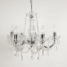 5 Light Marie Therese Chandelier with Crystal Drops