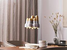 5-Light Pendant Cluster Grey Concrete Lamp
