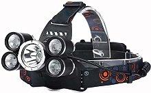 5 Lights Glare Long-range T6 Headlights 3T6+2LTS