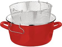 5 Litre Enamel Deep Fat Fryer Chips Pot Metal