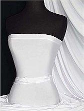 5 Meter Elastane Stretch ITY White Fabric Art