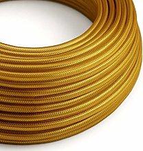 5 Metres - Gold 3 Core Vintage Retro Braided Round