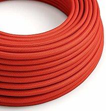 5 Metres - Red 3 Core Vintage Retro Braided Round