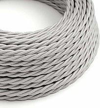 5 Metres - Silver 3 Core Vintage Retro Braided