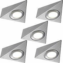 5 Pack   *240V Mains* LED Triangle Under Cabinet