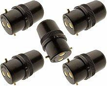 5 Pack - B22 Socket Lampholder Extension Plug 4Amp