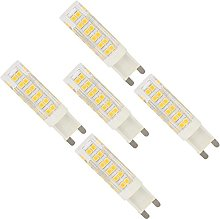 5 Pack G9 7W Warm White Dimmable 76 SMD 2835 LEDs