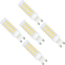 5 Pack G9 LED Light Bulbs 9W Warm White Dimmable,