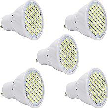 5 Pack GU10 LED Bulbs, 2.5W 48 SMD Cool White