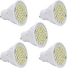 5 Pack GU10 LED Bulbs, 2.5W 48 SMD Warm White
