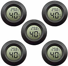 5-Pack LCD Digital Hygrometer Thermometer, Indoor