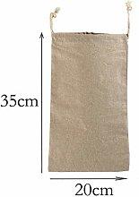 5 Pack Organic Linen Reusable Bread Bags Food