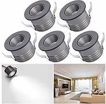5-Pack Small Recessed Ceiling Lights, Elitlife 1W