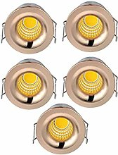 5-Pack Small Recessed Ceiling Lights, Elitlife 3W