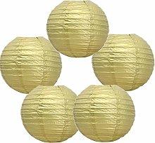 5 Pack Tissue Paper Round Lanterns LampShade Lamp