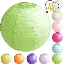 5 Pack Tissue Round Paper Lanterns Lamp Shade