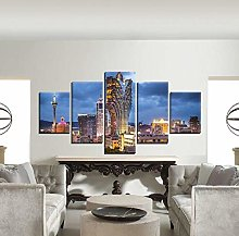 5 Paintings On Canvas Art Picture Home Decoration