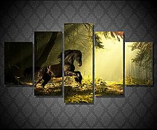 5 Paintings On Canvas Canvas Art Canvas Painting