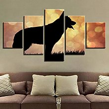 5 Paintings On Canvas Canvas Art Poster Print
