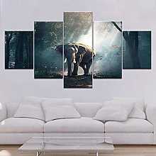5 Paintings On Canvas Canvas Decoration House