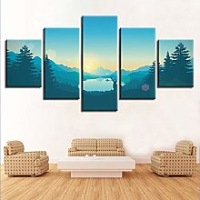 5 Paintings On Canvas Canvas Decorative Painting