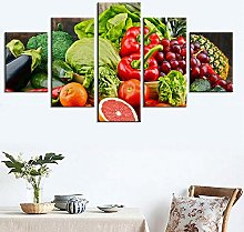 5 Paintings On Canvas Canvas Painting And Fruit