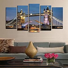 5 Paintings On Canvas Classic Architectural Bridge