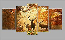 5 Paintings On Canvas Desk Canvas Picture Print
